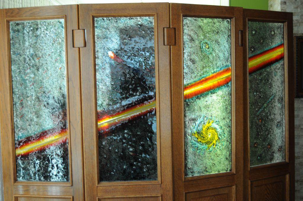 biombo vidrio