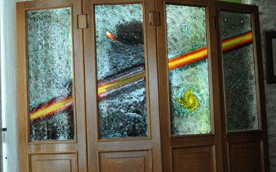 trabajos biombos cristal
